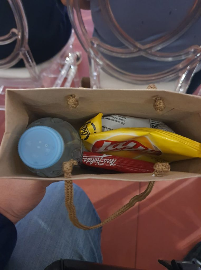 Snacks provided on the thanksgiving concert